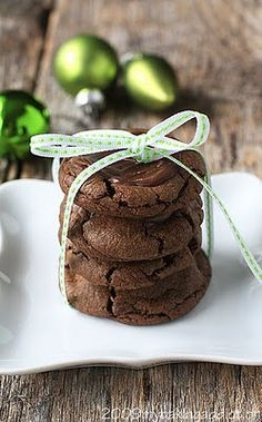 Mint Chocolate Cookies #desserts #dessertrecipes #food #sweet #delicious #yummy
