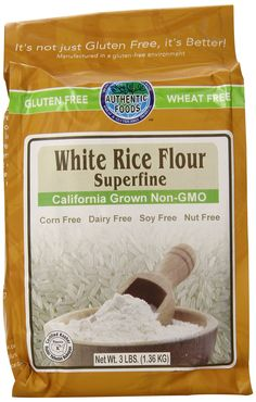 Amazon.com : Authentic Foods Superfine White Rice Flour - 3lb : Authentic Foods Superfine Brown Rice Flour : Grocery & Gourmet Food
