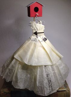 Paper Dress Using Vintage Sewing Patterns. by RubyCanoeDesign