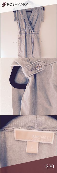 Michael KORS denim dress Great pick for the summer!  A light denim dress with cuffed sleeves.  No stains, in great condition Michael Kors Dresses Asymmetrical