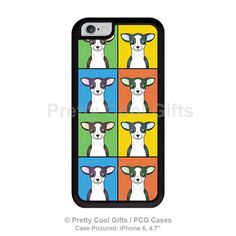 Chihuahua iPhone 6 Case  Cartoon Pop-Art TPU/PC rubber by pcgcases.  Any breed you could want!  They're awesome!