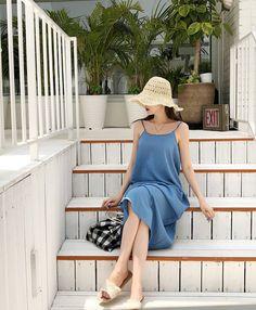 Cotton Long Dress, Korea Fashion, Kawaii Clothes, Hanfu, Jessica Jung, Girly, Ootd, Street Style, Fashion Outfits