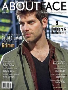 David Giuntoli/Grimm/Gracing the cover of About Face Magazine Nbc Grimm, Grimm Tv Show, Grimm Cast, Grimm Series, Nbc Series, Portland Oregon, Detective, Nick Burkhardt, David Giuntoli