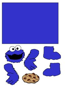 Cookie Monster Toilet paper craft