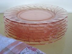 depression glass plates. I have a set of these I have never used. So pretty
