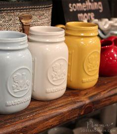 ceramic mason jars