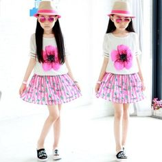 children new drop shoulder princess skirt dress in Allymey online ...