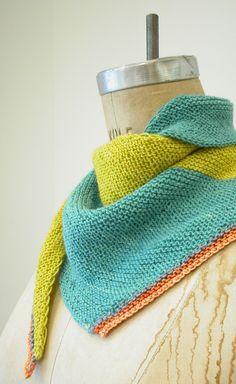504 King West - The Knit Café free pattern An asymmetrical garter stitch scarf pattern. Shawl Patterns, Knitting Patterns Free, Free Knitting, Free Pattern, Knit Or Crochet, Crochet Scarves, Knit Shawls, Scarf Knit, Knit Cowl
