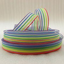 """5Y42571 3/8 """" ( 9 mm ) cinta organza alta calidad cinta de poliéster impresa 5 yardas, materiales hechos a mano bricolaje, papel de regalo de boda(China (Mainland))"""