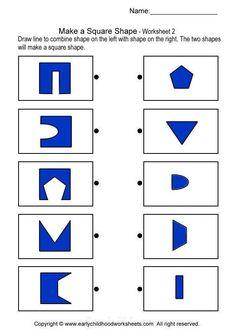 matching square shapes brain teaser worksheets for kindergarten Preschool Worksheets, Preschool Activities, Visual Perceptual Activities, Phonics Reading, Preschool At Home, Activity Sheets, Math For Kids, Thinking Skills, Kids Education
