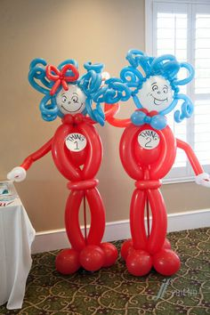 SEUSS THING 1 AND 2 TWIN BIRTHDAY PARTY IDEAS