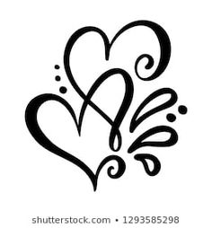 Find Two Lover Calligraphic Hearts Handmade Calligraphy stock images in HD and millions of other royalty-free stock photos, illustrations and vectors in the Shutterstock collection. Thousands of new, high-quality pictures added every day. Lettering Tutorial, Hand Lettering, Henna Heart, Tattoos Infinity, Herz Tattoo, Geniale Tattoos, Tribal Tattoos, Love Symbol Tattoos, Tattoos Skull