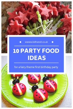Fairy Themed First Birthday Party Food and Drink Ideas