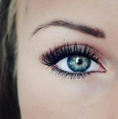 Beautiful brows and eye makeup.