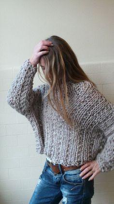 VEGANO amigable 100% acrílico grueso cómodo suéter por ileaiye
