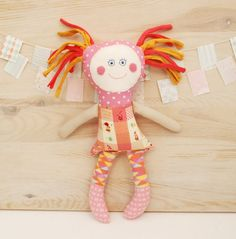 New Baby Gift Soft Doll  Handmade Rag Doll  Textile Doll