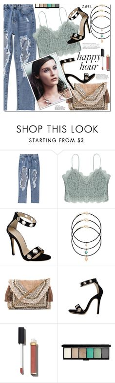 """Bottoms Up: Happy Hour"" by duma-duma ❤ liked on Polyvore featuring Shashi, Chanel, MAC Cosmetics and happyhour"