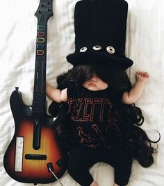 #1 . Slash From Guns N' Roses .  Sleeping Baby Has No Idea She Becomes The Star Of Cosplay During Her Naps . [.Click.thru.for...MORE.] . ~<3