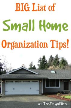 "Got a small home?? Check out this BIG List of Creative Storage Tips and Space-Saving Tricks shared by your frugal friends on The Frugal Girls Facebook page! Lisa said: ""I have small closets and one..."