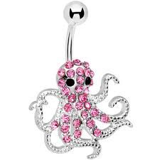 octopus belly button ring. so adorable.