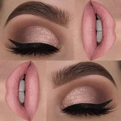23 Glam Makeup Ideas for Christmas: #9. SUBTLE SHIMMER; #christmas; #makeup