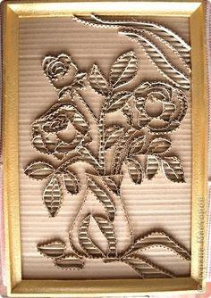Гофрокартон – необычный материал для творчества | Посидим-поговорим Cardboard Painting, Cardboard Sculpture, Fabric Painting, 3d Art Projects, Sculpture Projects, Quilled Paper Art, Paper Clay, Paper Beads, Diy And Crafts