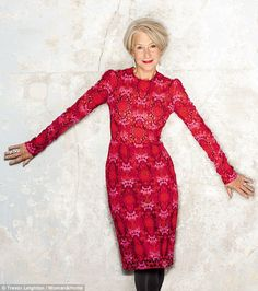 Simply stunning: Helen Mirren, who turned 70 last month, has revealed her body confidence secrets in an interview with Woman & Home magazine