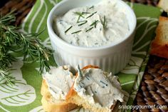 Day 2 of my quick and easy spreads with 5 ingredients (plus salt/pepper to taste). Today's easy appetizer is for Rosemary, Lemon, & Feta Spread. Another great spread/dip to serve with veggies...