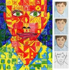 Chuck Close style self portraits.  Long term project but fabulous for an Art Show.