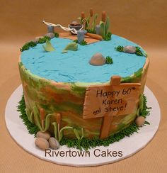 Fishing Cake - this would be great for my husband
