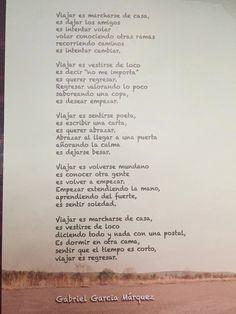 VIAJAR, Gabriel García Márquez