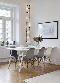 Salle à manger, eames, tableau périodique des éléments, decoration