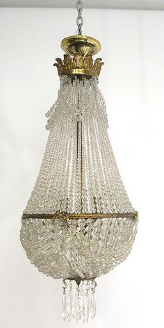 antique french beaded chandelier