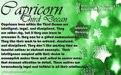 Capricorn third decan  https://www.facebook.com/TheZodiacZone