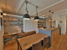 Italian Cafe, Kitchen Wallpaper, Booth Design, Studio Apartment, My Room, Kitchen Dining, Family Room, House Design, Ceiling Lights
