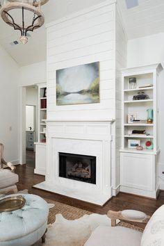 Interior Design Ideas Fireplace With Cabinetsshiplap