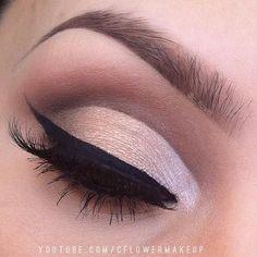 Brown Cut Crease Makeup Look