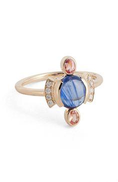 MOCIUN Sapphire & Diamond Cabochon Ring