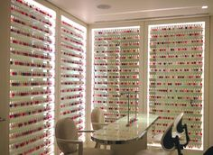 Let's take a moment to admire thisgorgeousnail polish room, it's a beauty lover's candy land. This little nail salon is located at the ul...