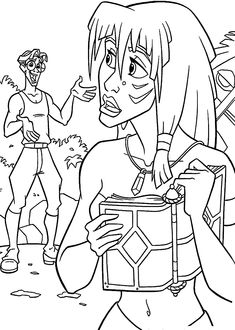 Atlantis The Lost Empire coloring pages for kids, printable free