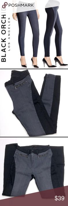 """Black Orchid Embrace the Grey Skinny Jeans ✔️Excellent Fit and Feel!  Lots of Stretch! ✔️Bi-Color Design ✔️Inseam: 28.5"""" ✔️74% Cotton•24% PA•2% Elastane ✔️1671-9 Black Orchid Jeans Skinny"""