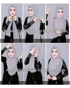 Lovely Hijab Tutorial With A Brooch. Love how these Asian women women wear their. Lovely Hijab Tutorial With A Brooch. Love how these Asian women women wear their scarves Square Hijab Tutorial, Simple Hijab Tutorial, Pashmina Hijab Tutorial, Hijab Style Tutorial, Hijab Fashion 2016, Muslim Women Fashion, Islamic Fashion, Fashion Mode, Fashion Muslimah
