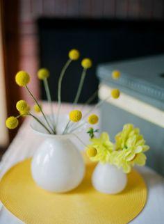 yellow and milk glass