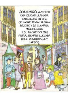 La pequeña historia de joan miro Joan Miro, Princess Zelda, Comics, Illustration, Fictional Characters, Vintage, Ideas, Children's Books, Kid Art