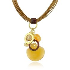 Antica Murrina's Kali' necklace features an intricate cluster of colorful handmade Murano glass charms and signature discs strung on a multi-cord necklace for …