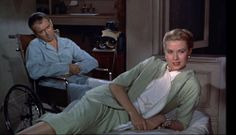 The Edith Head suit - worn with a cream halterneck and cream pillbox hat - in Rear Window was very much Grace Kelly's own style.