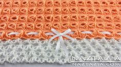 DIY Learn How To Crochet - Broomstick Lace Blanket Afghan Throw with Sol...