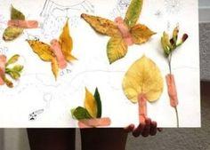 kuru yapraklarla yapılan resim çalışmaları (5)