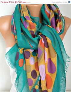 Hey, I found this really awesome Etsy listing at https://www.etsy.com/listing/85030705/spring-polka-dot-cotton-scarf-shawl
