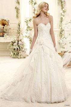 colet bridal 2015 style 15 coab15225iv sweetheart strapless a line wedding dress